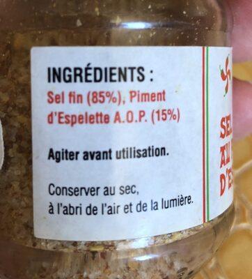 Sel fin au piment d'espelette - Ingredients - fr