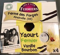 Yaourt fermier vanille bourbon - Product