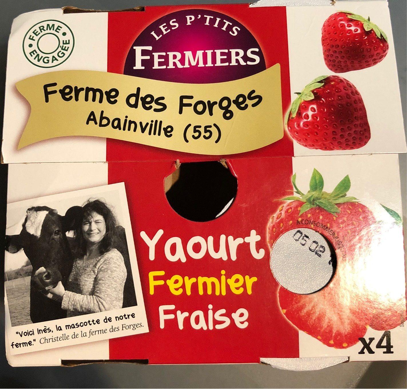 Yaourt fermier fraise - Product - fr