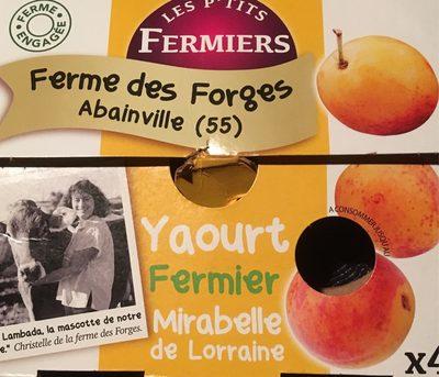 Yaourt fermier Mirabelle de Lorraine - 1