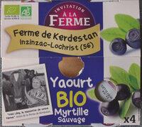 Yaourts à la myrtille sauvage - Produit - fr