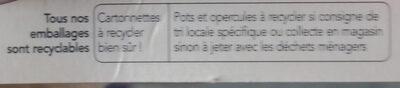 Yaourts à la myrtille sauvage - Instruction de recyclage et/ou informations d'emballage - fr