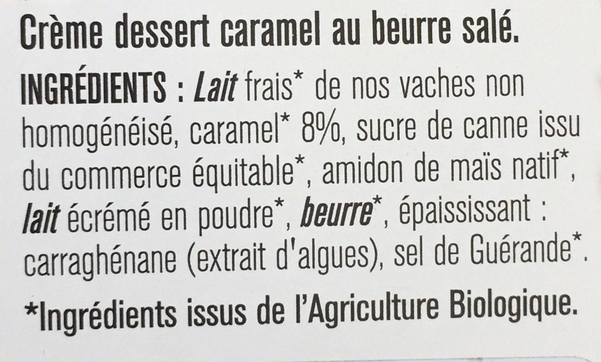 Crème dessert caramel beurre salé - Ingrédients - fr