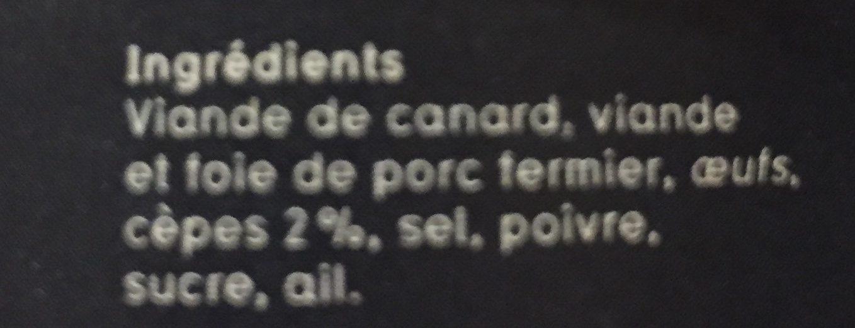 Daurade grise au gingembre - Ingrédients - fr