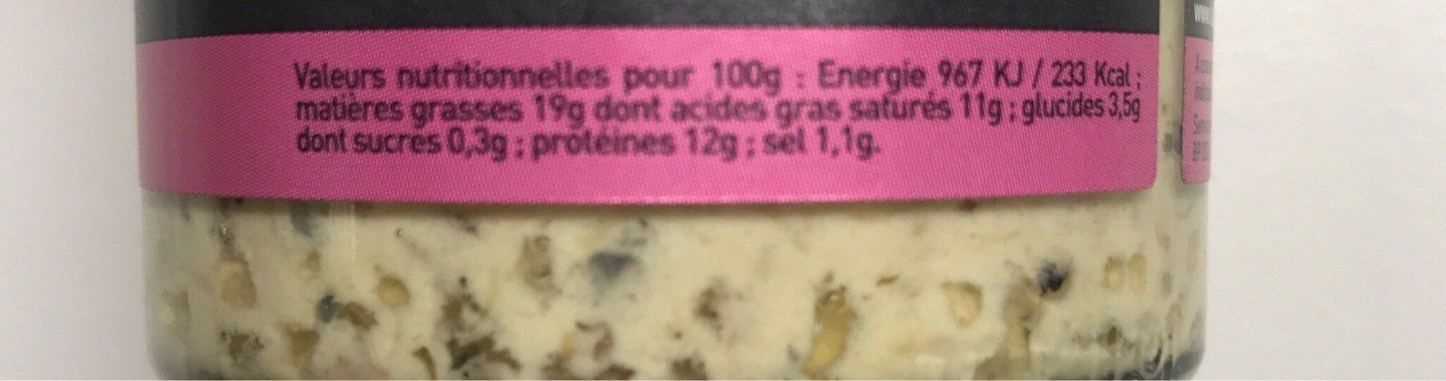 Daurade grise au gingembre - Informations nutritionnelles - fr