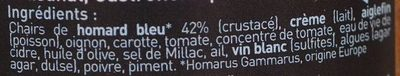 Homard Bleu à l'Armoricaine - Ingrediënten