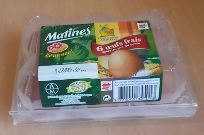 6 œufs frais datés du jour de ponte - Produit - fr