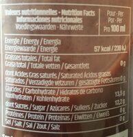 Jus de CRANBERRY - Informations nutritionnelles - fr