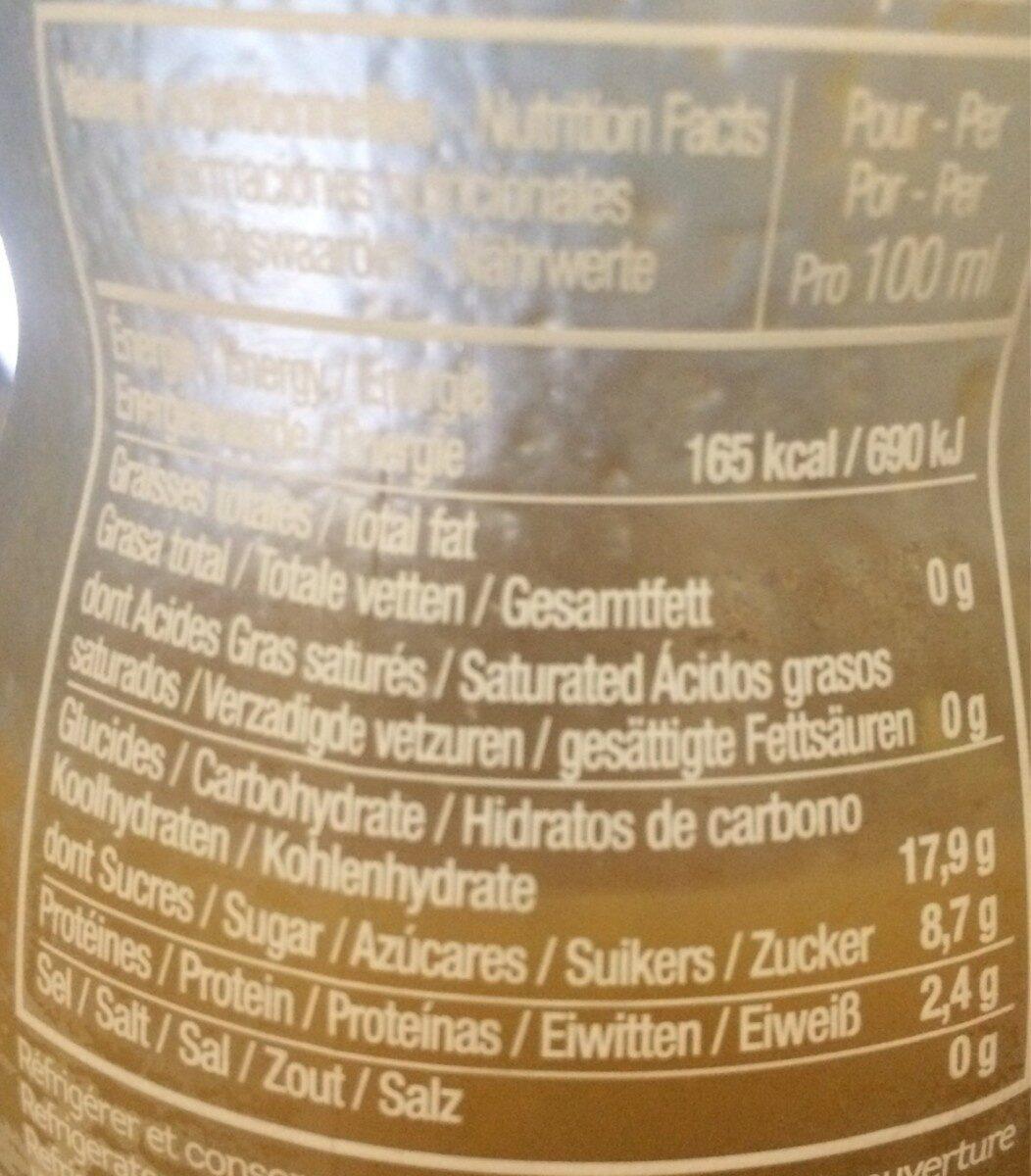 Coco c'est top - Informations nutritionnelles - fr