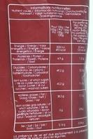 Pétales de betterave bio - Informations nutritionnelles
