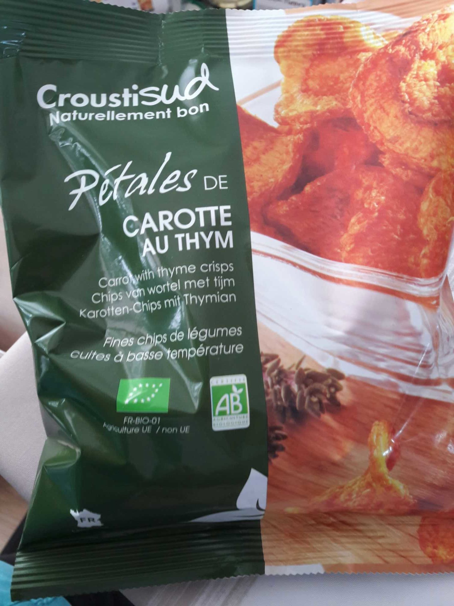 Pétales de carotte au thym - Produit - fr