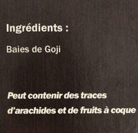 Goji berries - Ingrediënten