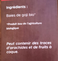 Baie de goji bio - Ingrediënten - fr