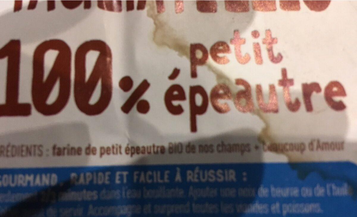 Tagliatelles 100% petit épeautre - Ingrédients