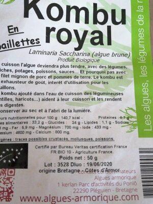 KOMBU ROYAL - Produit - fr