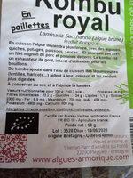 KOMBU ROYAL - Ingrédients - fr