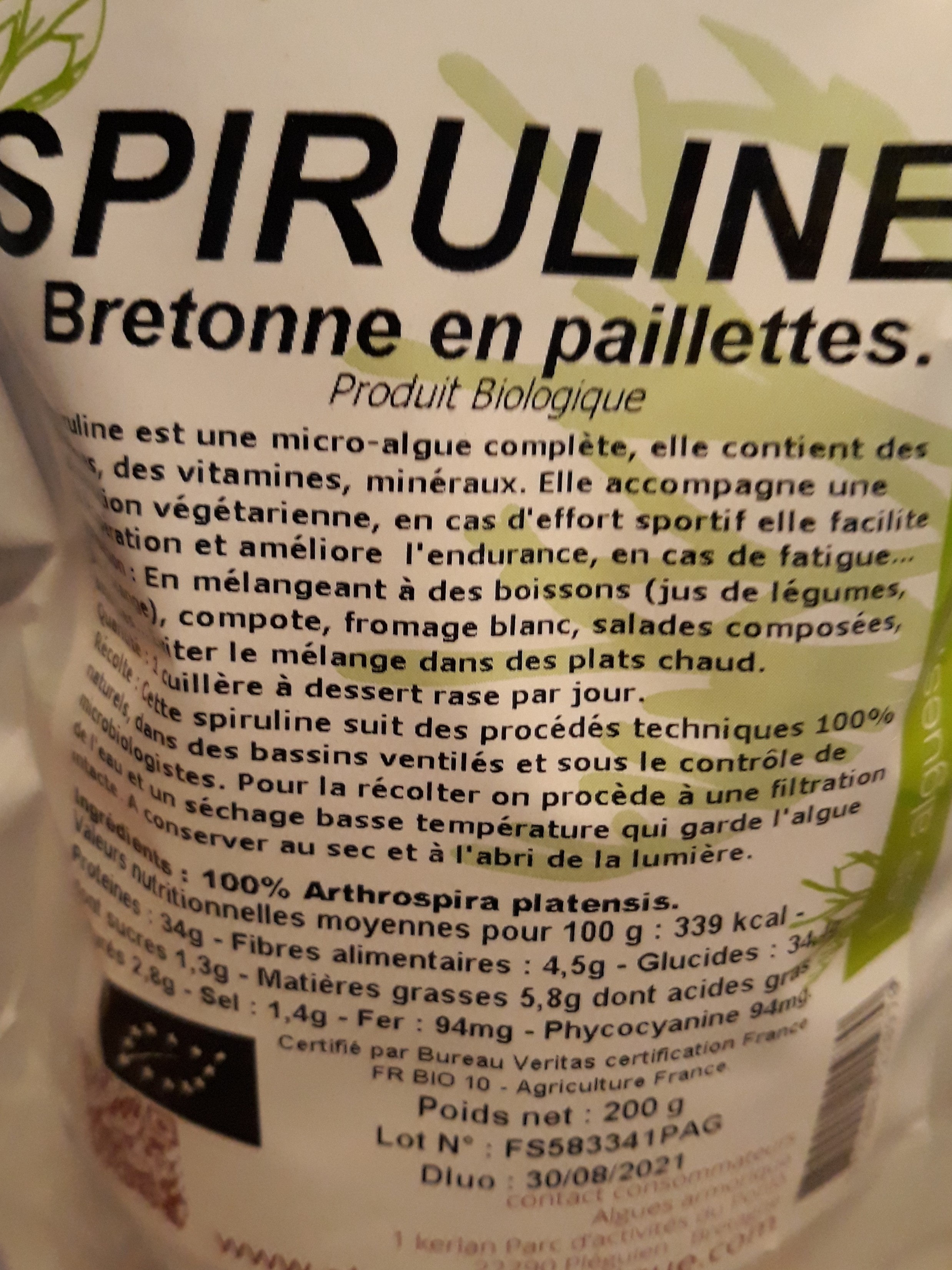 spiruline - Produit - fr