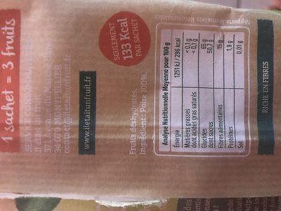 POIRES SECHEES - Ingrediënten - fr