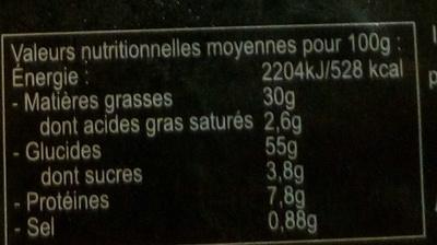 Croûtons Nature - Valori nutrizionali - fr
