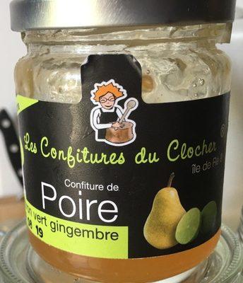 Confiture de poire, citron vert et gingembre - Product