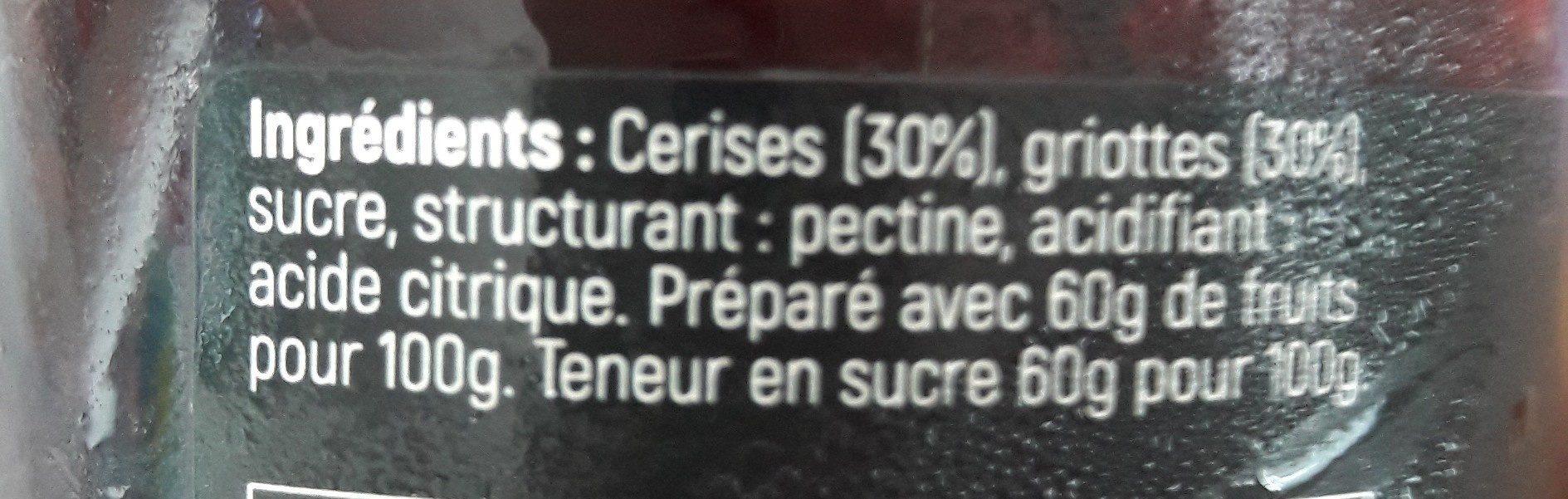 Confiture Cerise noire Griotte - Ingredients - fr