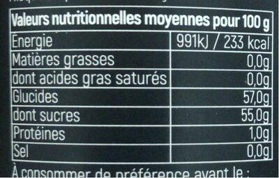 Confiture Cerise noire Griotte - Nutrition facts - fr
