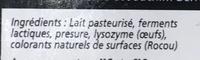 Le 62 (22,5% MG) - Ingredients
