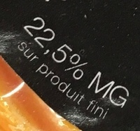 Le 62 (22,5% MG) - Nutrition facts