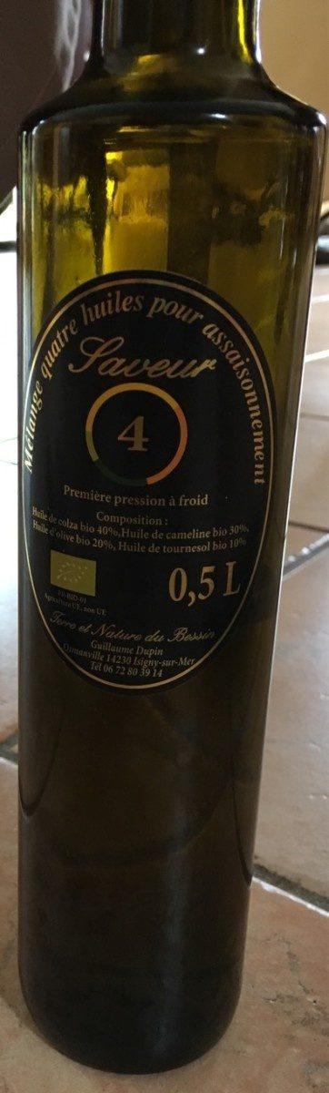 Melange 4 huiles pour assaisonnement - Produit - fr