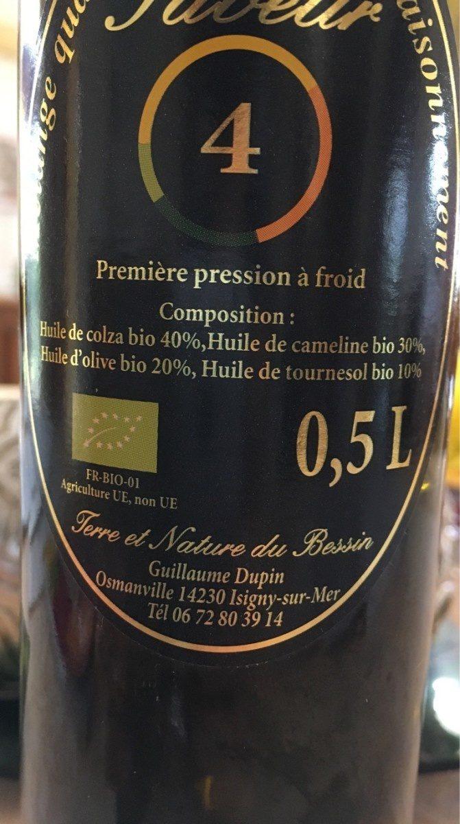 Melange 4 huiles pour assaisonnement - Ingrédients - fr