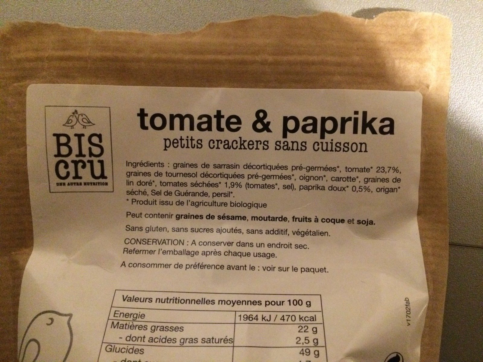 The Original petit crackers tomate & paprika - Ingrediënten