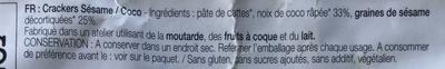 Ticru sésame coco - Ingrédients - fr
