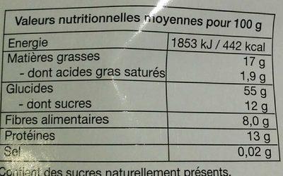 Petits crackers sans cuisson Bananes & Myrtilles - Nutrition facts