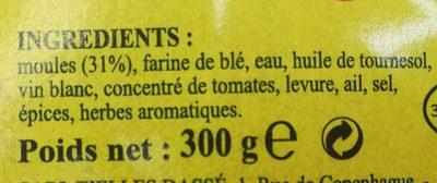 Chausson aux Moules - Ingrédients - fr