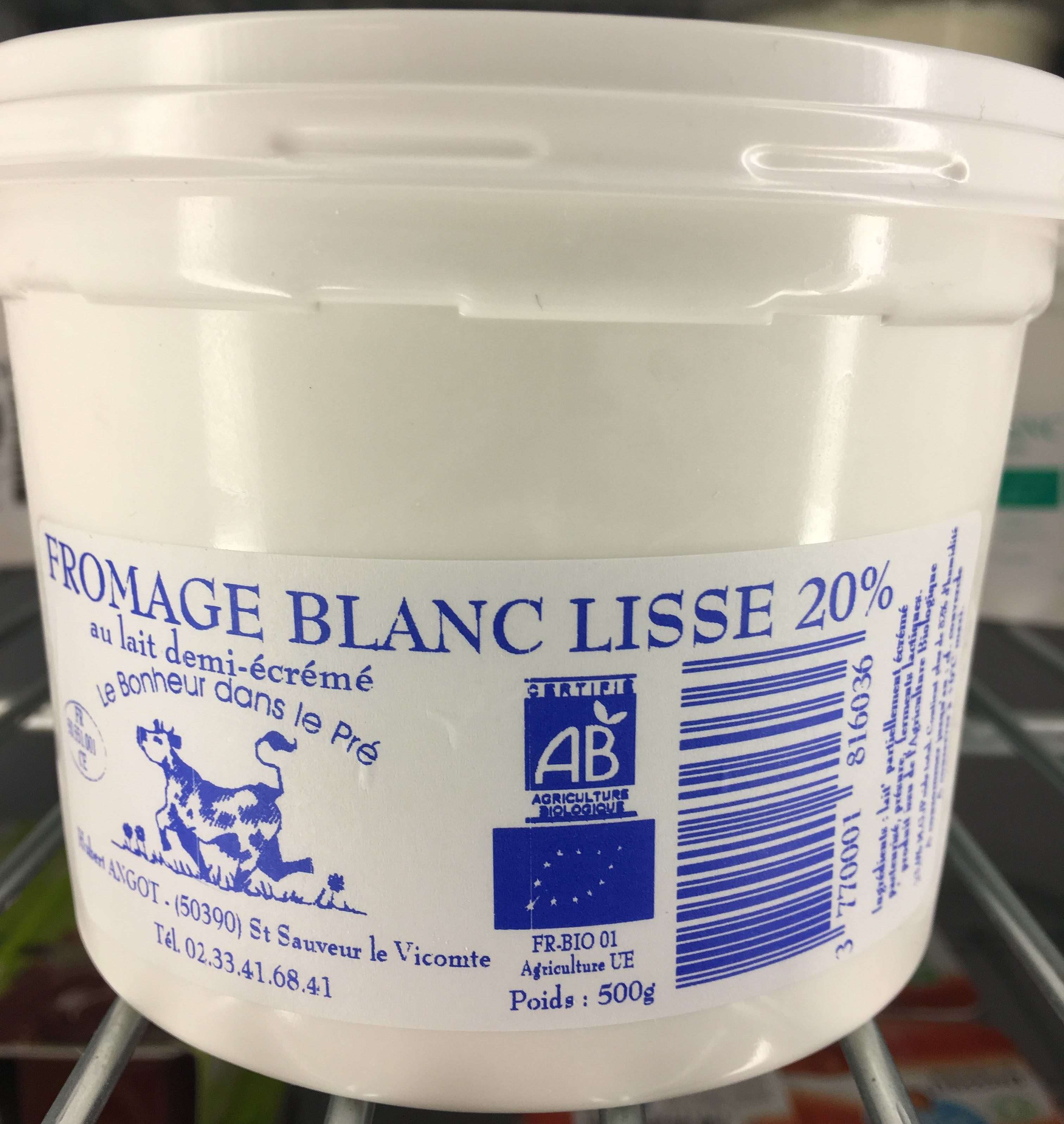 Fromage blanc lisse 20 % - Product - fr