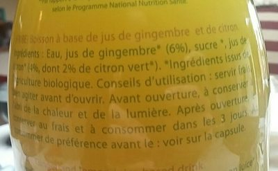 Gingembre Citron - Ingrédients - fr