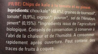 Chips de Kale - Ingrédients