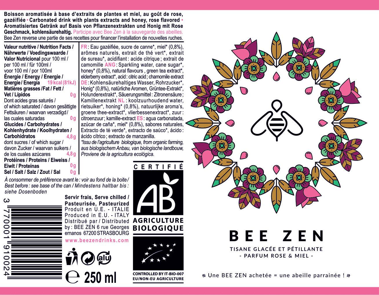 Bee Zen - Ingrédients - fr
