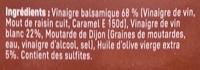 Sauce salade au Vinaigre Balsamique 6% MG - Ingredienti - fr