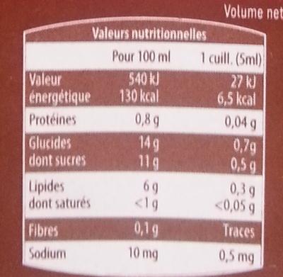 Sauce salade au Vinaigre Balsamique 6% MG - Informazioni nutrizionali - fr