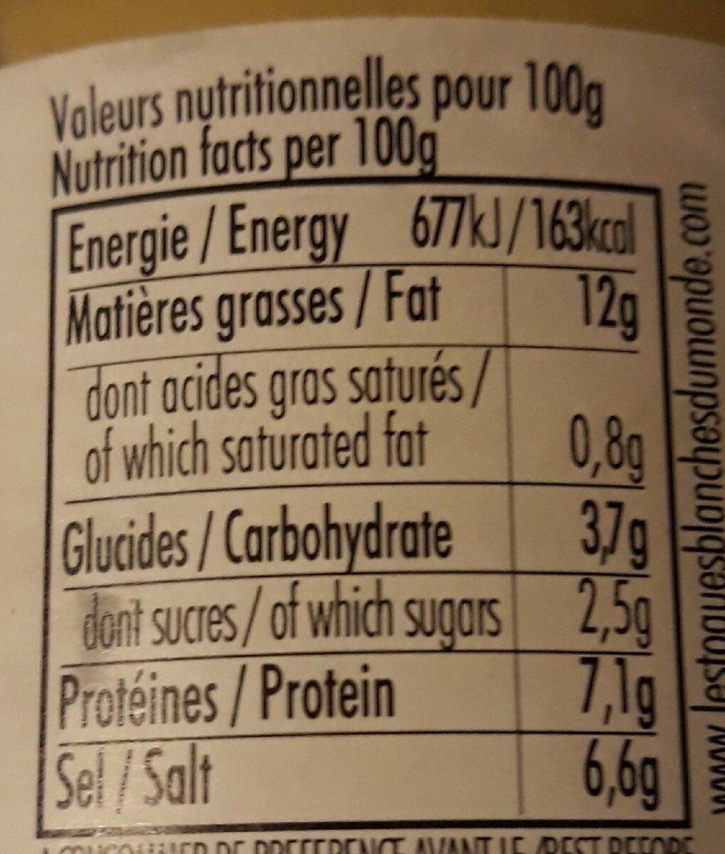 Moutarde de bourgogne - Nutrition facts - fr
