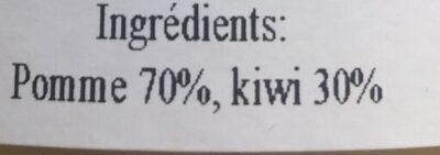 Compote 100% fruits Pomme / Kiwi - Ingrédients
