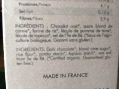 Préparation Bio Sans Gluten Pour Fondant Au Chocolat - Ingredients