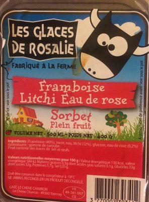 Sorbet plein fruit Framboise Litchi eau de rose - Product - fr