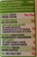 Eau de coco - Nutrition facts