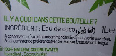 Eau de Coco - Ingrediënten - fr