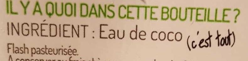 Eau de coco Sélection Fraîcheur - Ingredientes