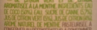 Eau de coco façon Mojito - Ingrédients - fr