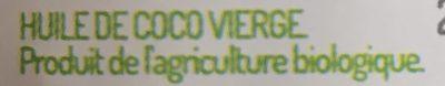Huile De Coco Vierge Bio - Ingrédients - fr