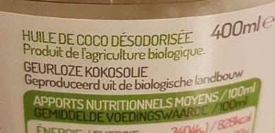 Huile De Coco - Ingredients - fr